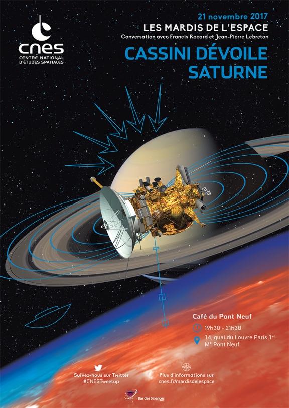 Mardis de l'Espace : 21 Novembre 2017- Cassini dévoile Saturne