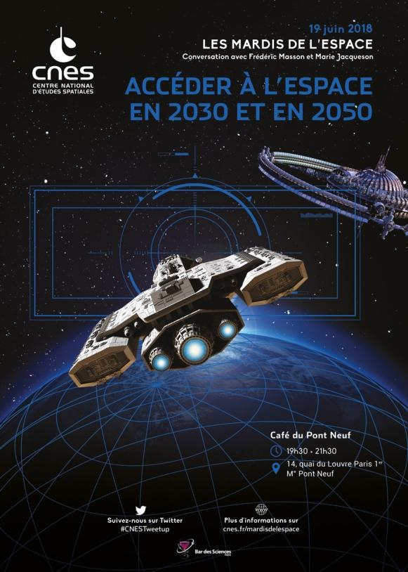 Mardis de l'Espace : 19 Juin 2018 - Accéder à l'Espace en 2030 et en 2050