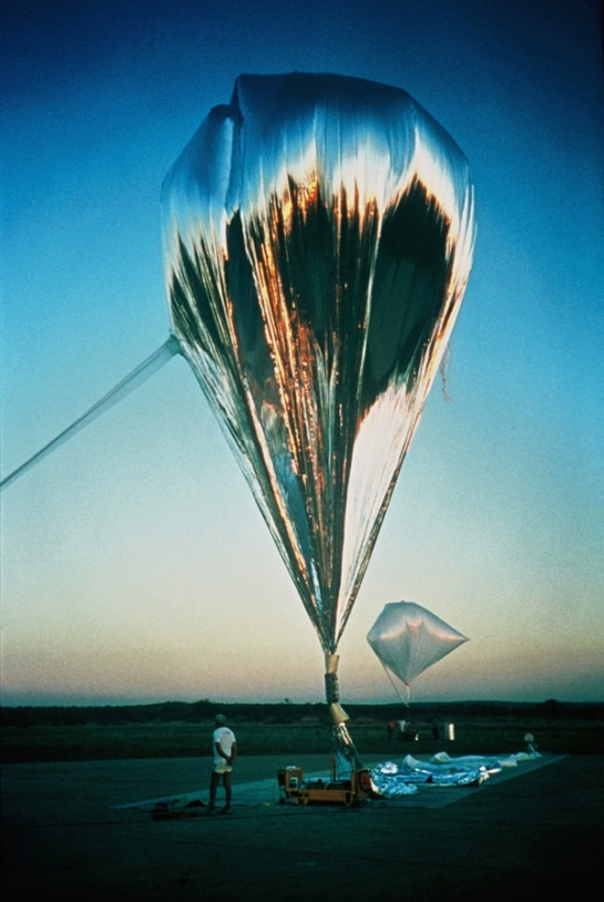Montgolfière infrarouge. Crédits : CNES